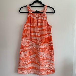 ⭐️3/$25⭐️ BCBGMaxAzria Orange and white dress